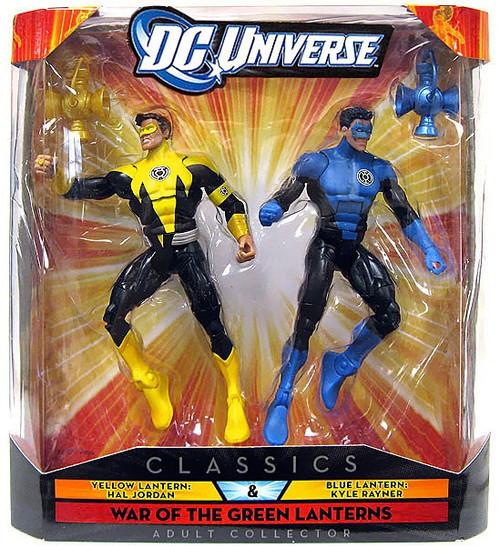 DC Universe Classics Yellow Lantern Hal Jordan & Blue Lantern Kyle Rayner Exclusive Action Figures
