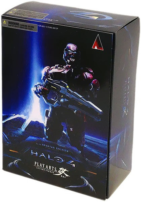 Halo 4 Play Arts Kai Series 1 Spartan Soldier Action Figure [Red]