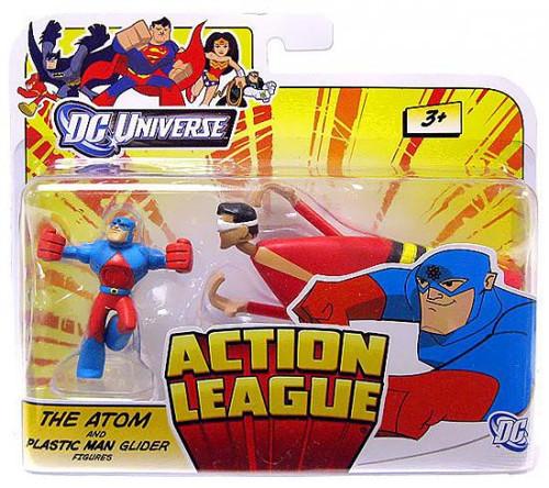 DC Universe Action League The Atom & Plastic Man Glider 3-Inch Mini Figures