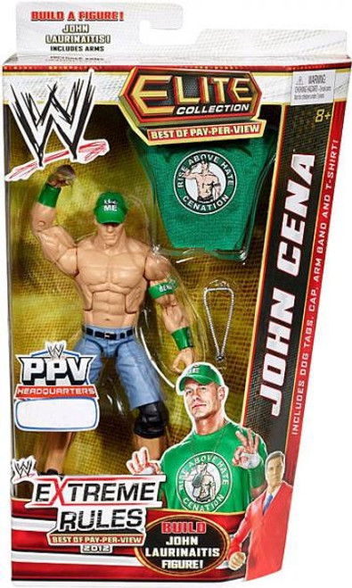WWE Wrestling Elite Collection Best of Pay Per View John Cena Exclusive Action Figure [Build John Laurinaitis]
