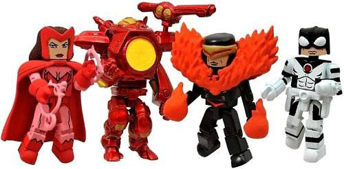 Marvel Minimates Avengers vs. X-Men Exclusive Minifigure 4-Pack [Scarlett Witch, Cyclops, Iron Man & Protector]