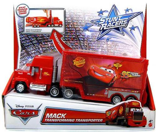 Disney / Pixar Cars Stunt Racers Mack Transforming Transporter Plastic Car