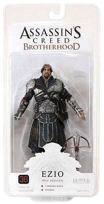 NECA Assassin's Creed Brotherhood Ezio Exclusive Action Figure [Onyx Assassin, Unhooded]
