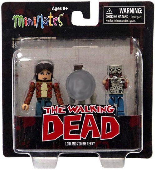 The Walking Dead Minimates Exclusives Lori & Zombie Terry Exclusive Minifigure 2-Pack