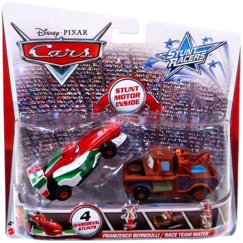 Disney / Pixar Cars Stunt Racers Francesco Bernoulli & Race Team Mater Exclusive Plastic Car 2-Pack