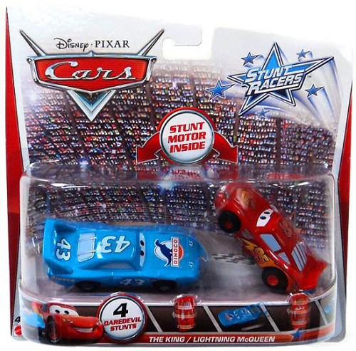 Disney / Pixar Cars Stunt Racers The King & Lightning McQueen Exclusive Plastic Car 2-Pack