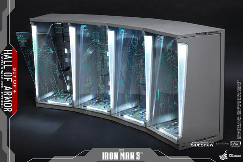 Iron Man 2 Hall of Armor - 4 Bays Collectible Figure Accessory [2019 Re-Issue]