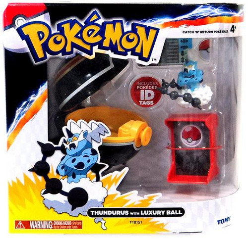 Pokemon Catch n Return Pokeball Thundurus with Luxury Ball Figure Set
