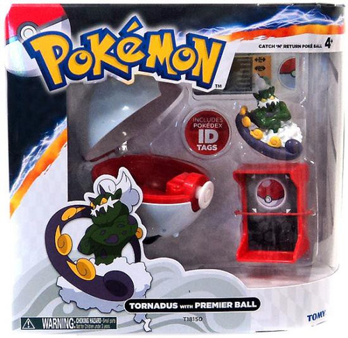Pokemon Catch n Return Pokeball Tornadus with Premier Ball Figure Set