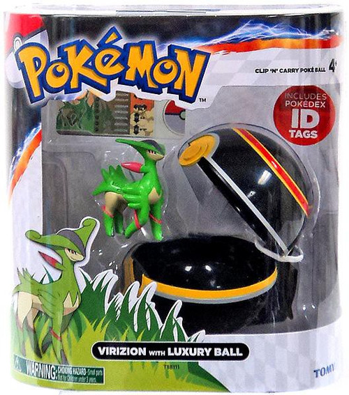 Pokemon Clip n Carry Pokeball Virizion with Luxury Ball Figure Set