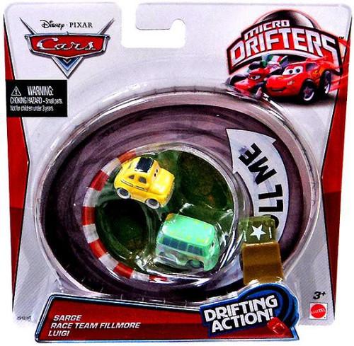 Disney / Pixar Cars Micro Drifters Sarge, Race Team Fillmore & Luigi Mini Cars