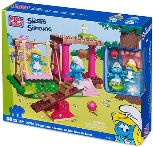 Mega Bloks The Smurfs Smurfs Playground Set #10746