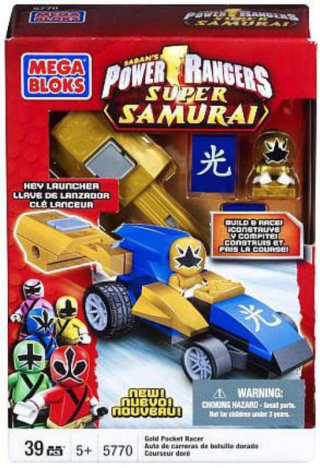 Mega Bloks Power Rangers Super Samurai Gold Pocket Racer Set #5770