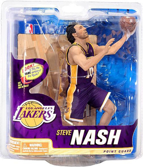 McFarlane Toys NBA Los Angeles Lakers Sports Picks Series 22 Steve Nash Action Figure [Purple Jersey]