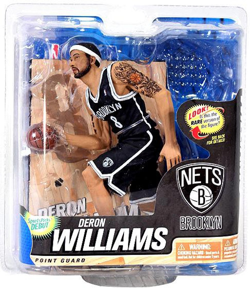 McFarlane Toys NBA Brooklyn Nets Sports Picks Series 22 Deron Williams Action Figure [Black Jersey]