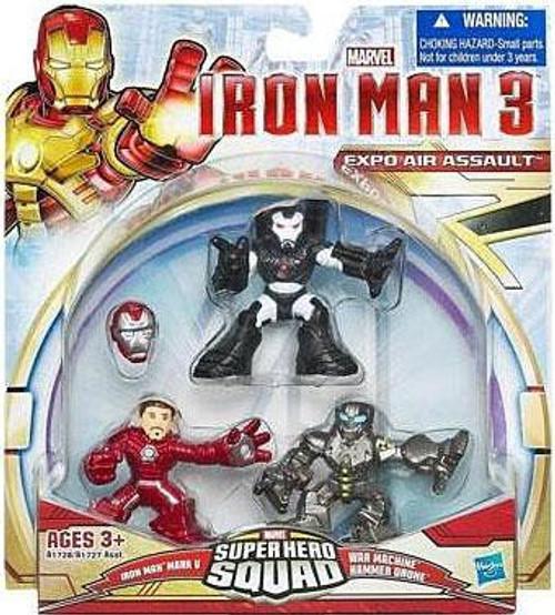 Iron Man 3 Superhero Squad Expo Air Assault Action Figure 3-Pack