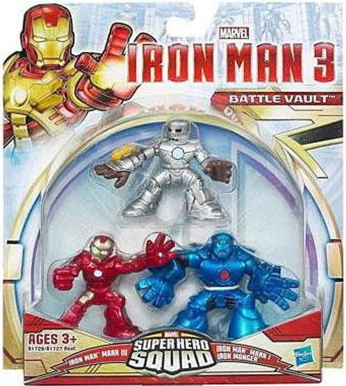 Superhero Squad Iron Man, Mark I & Iron Monger Action Figure 3-Pack [Battle Vault]