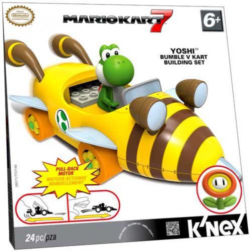 Super Mario Mario Kart 7 K'NEX Yoshi Bumble V Kart Set #38571