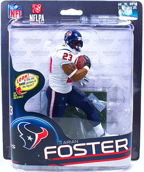 McFarlane Toys NFL Houston Texans Sports Picks Series 32 Arian Foster Action Figure [White Jersey]