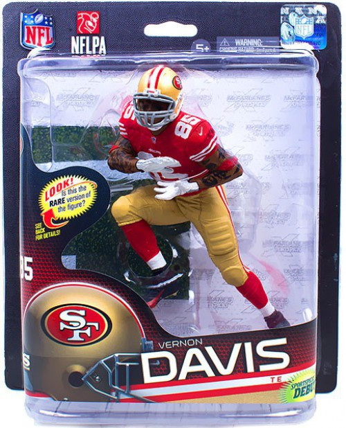 McFarlane Toys NFL San Francisco 49ers Sports Picks Series 32 Vernon Davis Action Figure [Red Jersey]