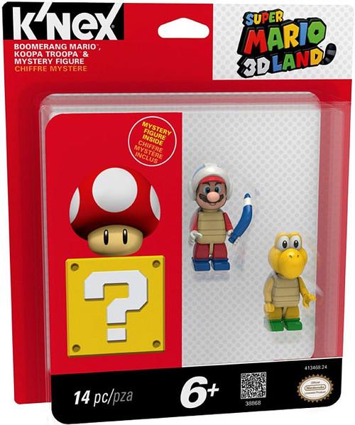 K'NEX Super Mario 3D Land Koopa Troopa, Boomerang & Mystery Figure 3-Pack