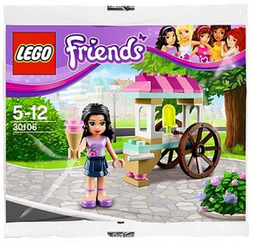 LEGO Friends Emma's Ice Cream Stand Mini Set #30106 [Bagged]