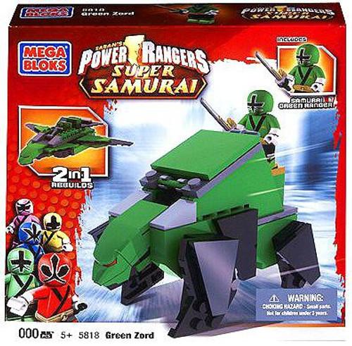 Mega Bloks Power Rangers Super Samurai Green Zord Set #5818