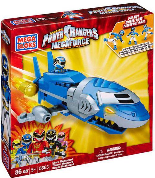 Mega Bloks Power Rangers MegaForce Blue Shark Mechazord Set #5863