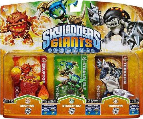 Skylanders Giants Eruptor, Stealth Elf & Terrafin Figure 3-Pack
