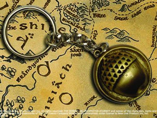 The Hobbit Bilbo Baggins' Acorn Button Keychain