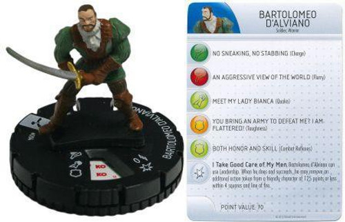 Brotherhood Assassin's Creed HeroClix Bartolomeo D'Alviano #004