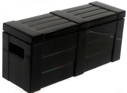 BrickArms Crate with Lid 2.5-Inch [Black]