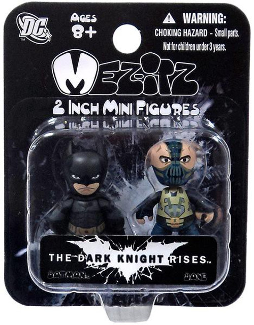 The Dark Knight Rises Mez-Itz Batman & Bane Vinyl Figure 2-Pack