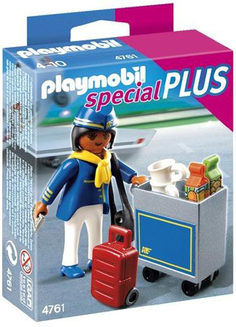 Playmobil Special Flight Attendant with Cart Set #4761
