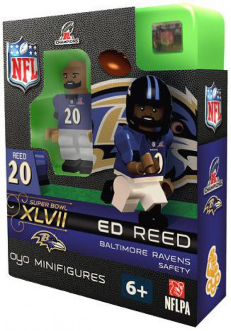 Baltimore Ravens NFL Super Bowl XLVII Ed Reed Minifigure