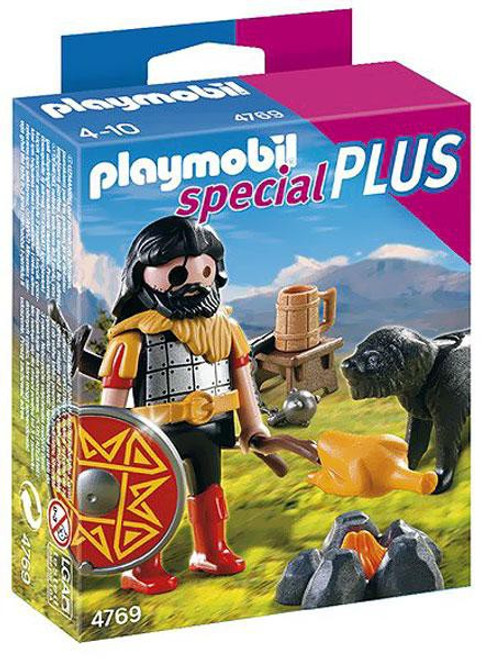Playmobil Special Plus Barbarian & Dog at Campfire Set #4769