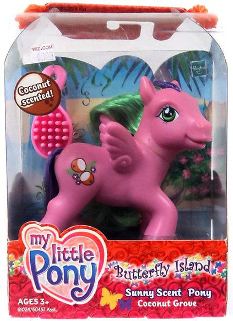 My Little Pony Butterfly Island Sunny Scent Coconut Grove Figure