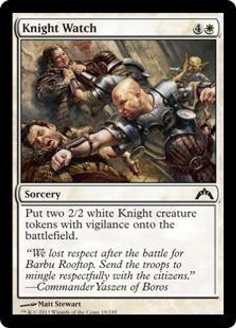 MtG Gatecrash Common Knight Watch #19
