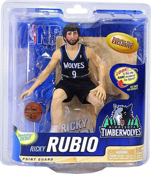 McFarlane Toys NBA Minnesota Timberwolves Sports Picks Collectors Club Exclusive Ricky Rubio Exclusive Action Figure