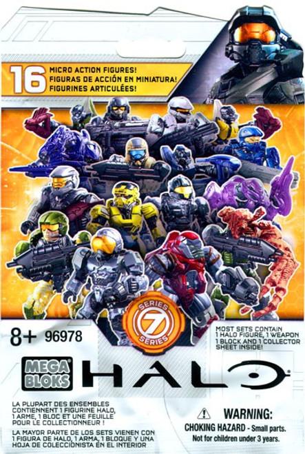 Mega Bloks Halo Series 7 Minifigure Mystery Pack [1 RANDOM Figure]