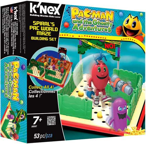 K'NEX Pac-Man Pac Man and the Ghostly Adventures Spiral's Pac World Maze Set #64547