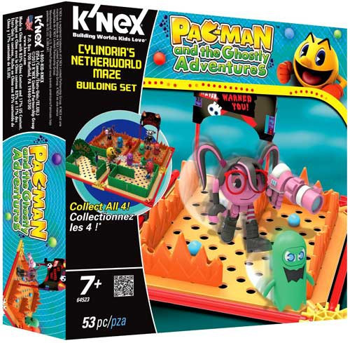 K'NEX Pac-Man Pac Man and the Ghostly Adventures Cylindria's Netherworld Maze Set #64523