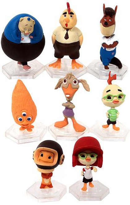 Disney Gacha 2 Inch Micro Chicken Little Set of 8 PVC Figures