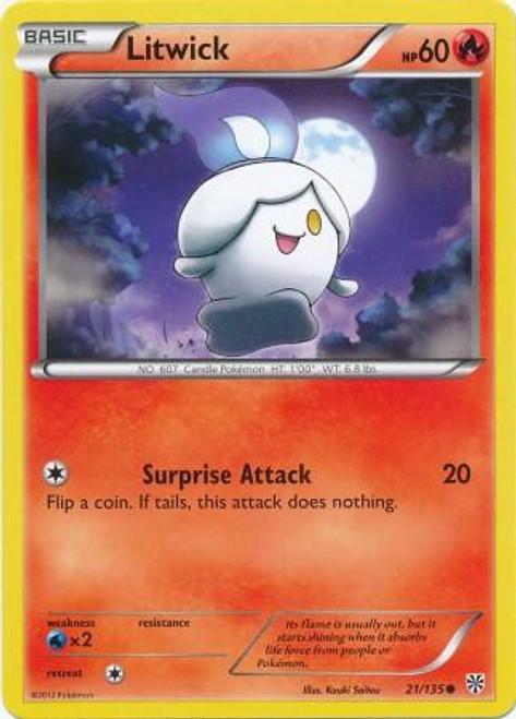 Pokemon Black & White Plasma Storm Common Litwick #21