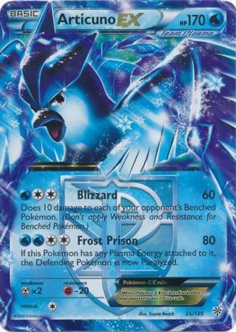 Pokemon Black & White Plasma Storm Ultra Rare Articuno EX #25