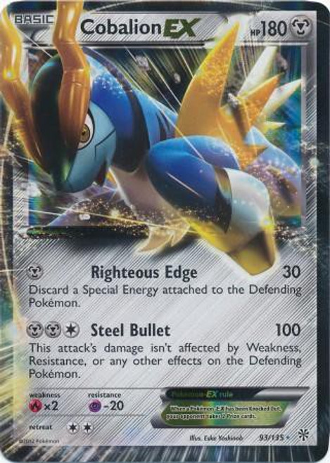 Pokemon Black & White Plasma Storm Ultra Rare Cobalion EX #93