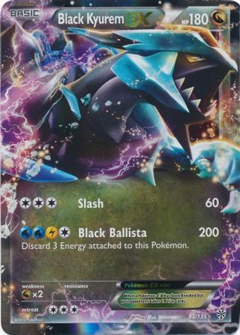 Pokemon Black & White Plasma Storm Ultra Rare Black Kyurem EX #95