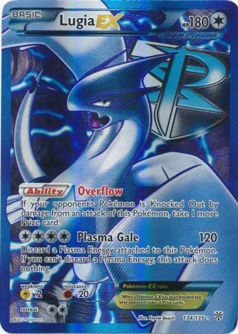 Pokemon Black & White Plasma Storm Ultra Rare Full Art Lugia EX #134