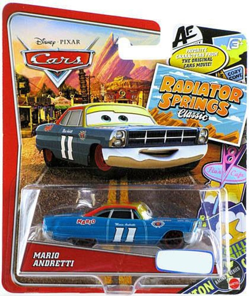 Disney / Pixar Cars Radiator Springs Classic Mario Andretti Exclusive Diecast Car