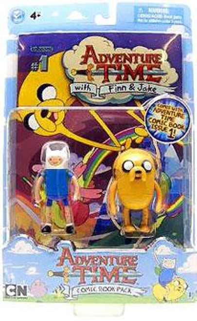 Adventure Time Comic Book Pack Finn & Jake 3-Inch Figure 2-Pack